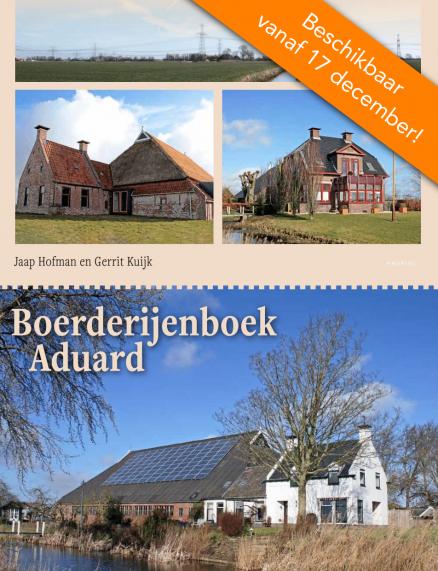 Omslag boerderijenboek Aduard met banner