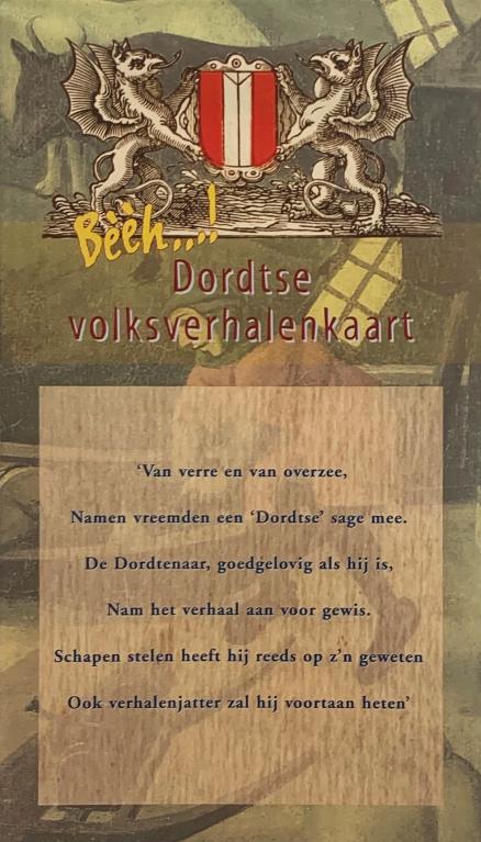 Voorkant Dordtse volksverhalenkaart