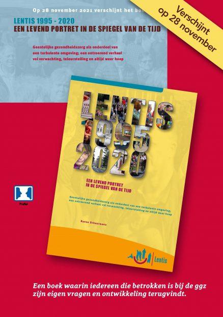 Voorzijde flyer Lentis 1995-2020