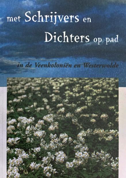 Voorzijde boek met schrijvers en dichters op pad